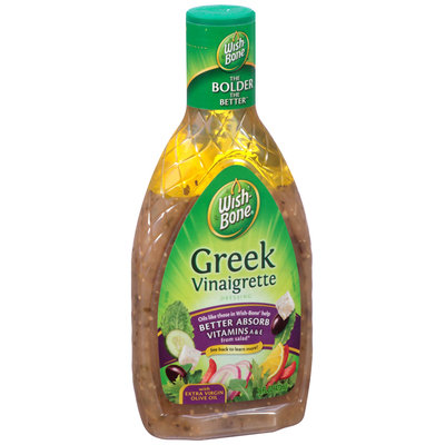Wishbone® Greek Vinaigrette Salad Dressing 16 fl. oz. Bottle