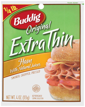 Buddig Original Extra Thin™ Ham 4 Oz Peg