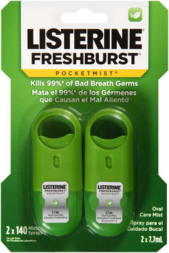 Listerine® Pocketmist® Freshburst® Oral Care Mist 2-7.7mL Containers