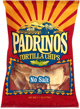 Padrinos® No Salt Tortilla Chips 11.5 oz. Bag