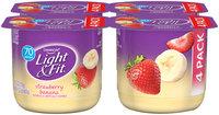 Light & Fit Strawberry Banana Yogurt 4-Pack 5.3oz Cup