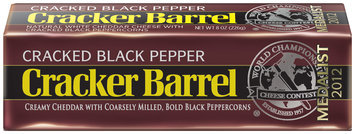 Cracker Barrel Cracked Black Pepper Cheese 8 oz. Chunk