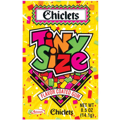 Chiclets Tiny Size Flavor Coated Gum .5 Oz Packet