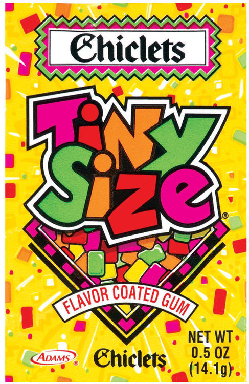 Chiclets Tiny Size Flavor Coated Gum