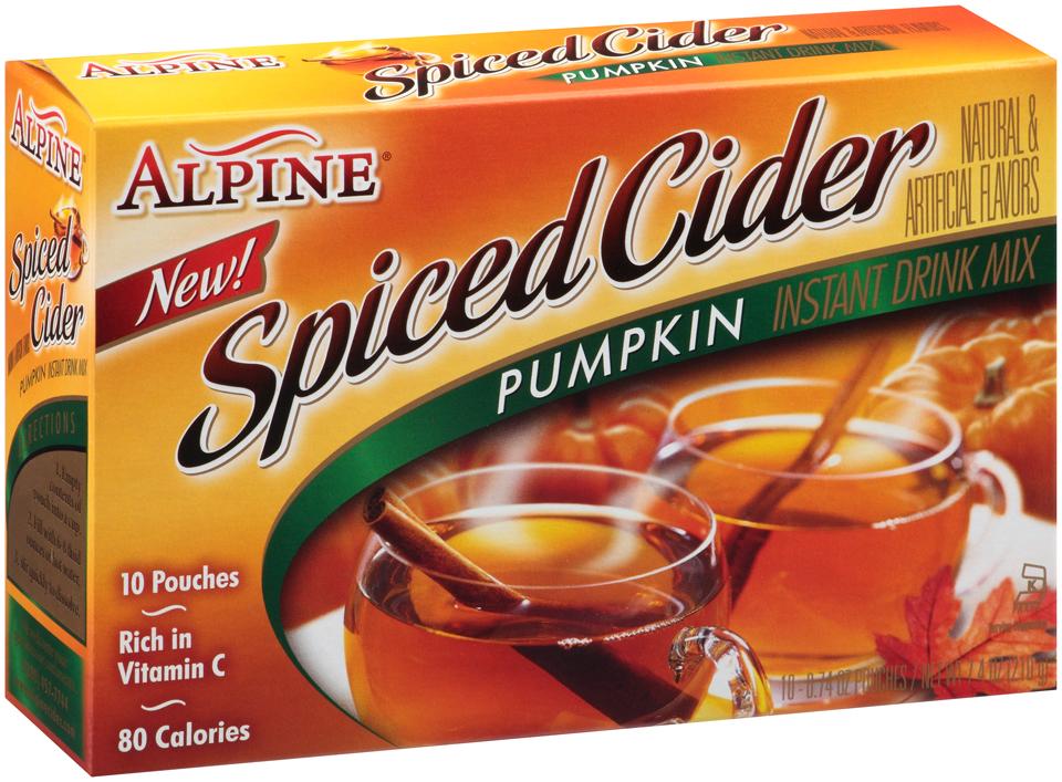 Alpine® Pumpkin Spiced Cider Instant Drink Mix 10-0.74 oz Pouches