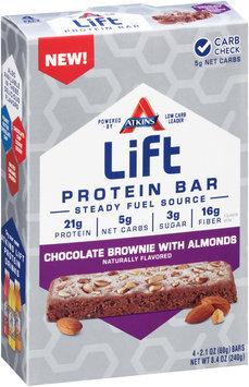 Atkins® Lift Chocolate Brownie with Almonds Protein Bar 4-2.1 oz. Box