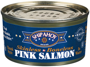 Ship Ahoy Chunk Style Skinless Boneless In Water Pink Salmon 7.5 Oz Can