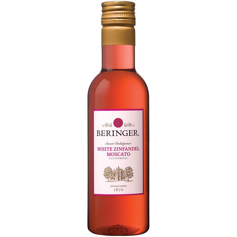 Beringer® California White Zinfandel Moscato Wine 187mL Bottle