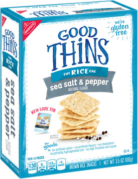 Good Thins Sea Salt & Pepper Brown Rice Snacks 3.5 oz. Box