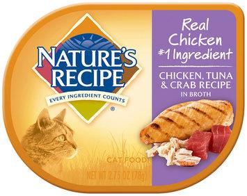 Nature's Recipe® Chicken, Tuna & Crab Recipe in Broth Cat Food 2.75 oz. Container