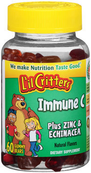 L'il Critters™ Immune C Plus Zinc & Echinacea Gummy Bears 60 ct Bottle