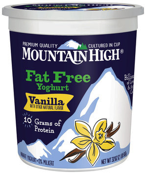 Mountain High® Vanilla Fat Free Yoghurt 32 oz. Tub