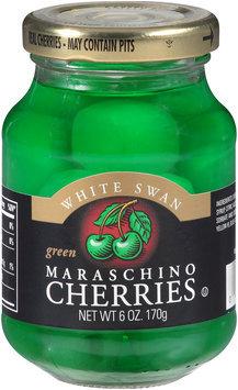 White Swan® Green Maraschino Cherries 6 oz. Jar