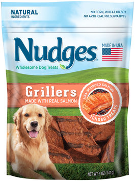 Nudges® Salmon Grillers Wholesome Dog Treats 5 oz. Bag