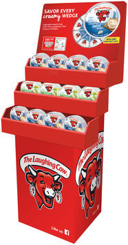 The Laughing Cow® Cheese Wedge Shipper - 48 count Creamy Light Swiss and Creamy Original Swiss