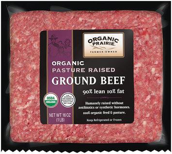 Organic Prairie® Lean Ground Beef 90/10 Frozen 1 lb