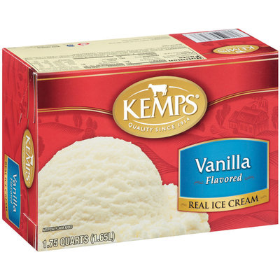 Kemps Vanilla Flavored Ice Cream 1.75 Qt Carton