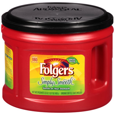 Folgers® Simply Smooth® Ground Coffee 23 oz. Canister