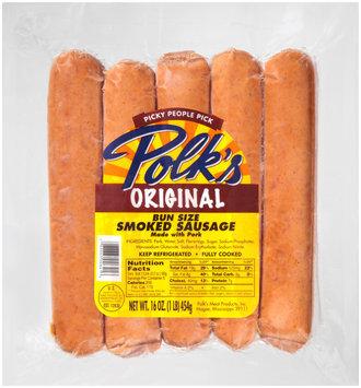 Polk's Original Bun Size Smoked Sausage 16 oz. Pack