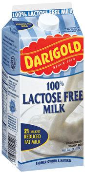Darigold 100% Lactose Free 2% Milkfat Milk .5 Gal Carton