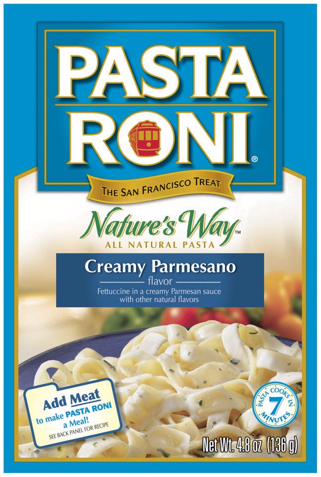Pasta Roni Creamy Parmesano Flavor Natures Way 4.8 Oz Box