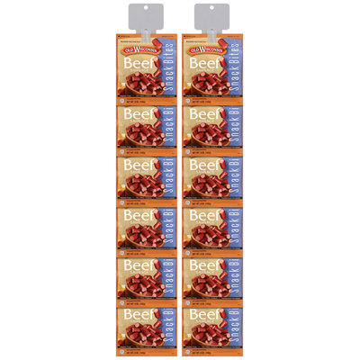Old Wisconsin® Beef Sausage Snack Bites 5 oz. Pouches Display