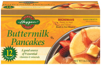 Haggen Buttermilk 12 Ct Pancakes 16.5 Oz Box