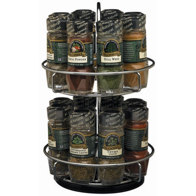 McCormick Gourmet™ W/Gourmet Spices 2-Tier Chrome Spice Rack 1 Ct