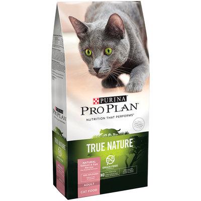 Purina Pro Plan True Nature Adult Grain Free Formula Natural Salmon & Egg Recipe Cat Food 3.2 lb. Bag