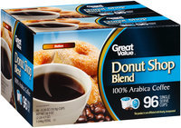 Great Value™ Donut Shop Blend Medium 100% Arabica Coffee Single Serve Cups 96–0.38 oz. Box