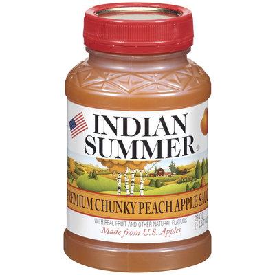 Indian Summer Chunky Peach Apple Sauce 23 Oz Plastic Jar