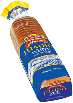 Springfield Jumbo White Bread 32 Oz Bag