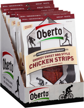 Oberto® Smokey Sweet BBQ Style Chicken Strips 8-5.75 oz. Tray