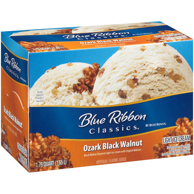 Blue Bunny® Blue Ribbon Classics® Ozark Black Walnut Light Ice Cream 1.75 qt. Carton