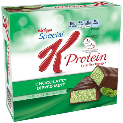 Kellogg's® Special K® Protein Chocolatey Dipped Mint Meal Bar 8-1.59 oz. Bars