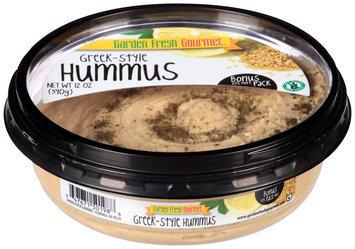 Garden Fresh Gourmet® Greek-Style Hummus 12 oz. Tub
