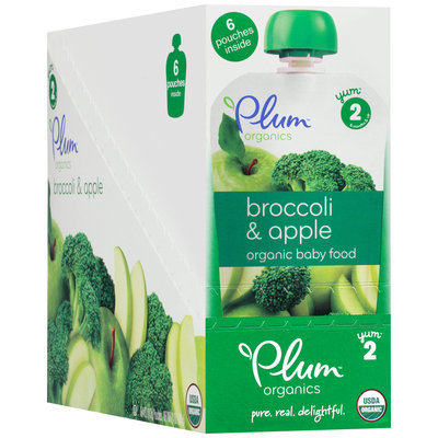 Plum Organics® Broccoli & Apple Organic Baby Food 6-4 oz. Pouches