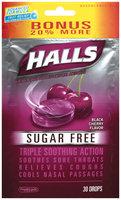 Halls® Sugar Free Black Cherry Flavor Cough Suppressant/Oral Anesthetic Menthol Drops 30 ct Bag
