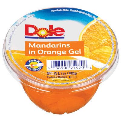 Dole In Orange Gel W/Fork Under Lid Mandarins 7 Oz Cup