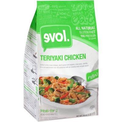 Evol Teriyaki Chicken 20 oz. Bag
