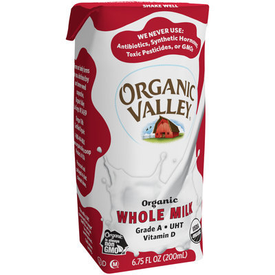 Organic Valley® Organic Whole Milk 6.75 fl. oz. Carton