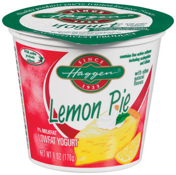 Haggen Lowfat Lemon Pie Yogurt 6 Oz Cup