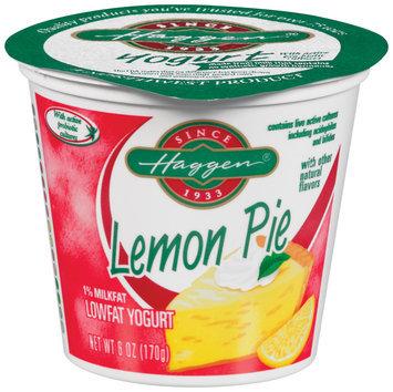 Haggen Lowfat Lemon Pie Yogurt 6 Oz Cup
