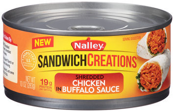 Nally® Sandwich Creations™ Shredded Chicken in Buffalo Sauce 10 oz. Can