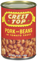 Crest Top In Tomato Sauce Pork & Beans 16 Oz Can