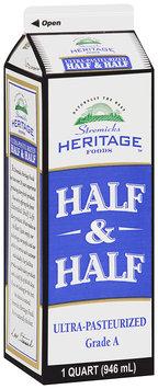 Stremicks Heritage Foods® Half & Half 1 qt. Carton