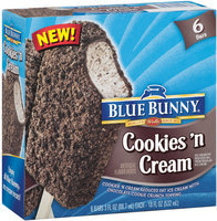 Blue Bunny® Cookies 'N Cream Ice Cream Bars 6 ct