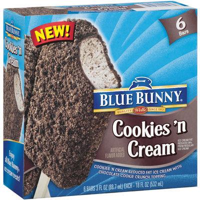 Blue Bunny® Cookies 'N Cream Ice Cream Bars 6 ct