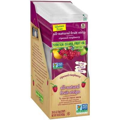 Stretch Island® Ripened Raspberry All-Natural Fruit Strips 30 ct Box
