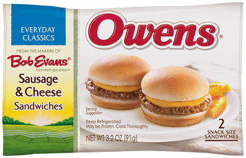 Owens® Snack Size Sausage & Cheese Sandwiches 2 ct Bag